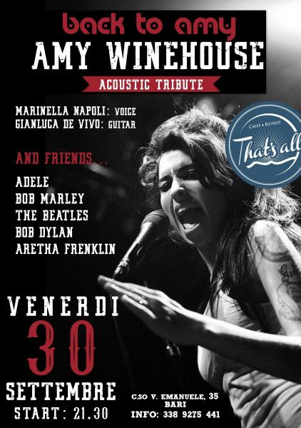 Back To Amy - AmyWinehouse Acoustic Tribute & Friend al That's All Pub (Bari)