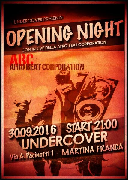Undercover Opening Live w Afro Beat Corporation