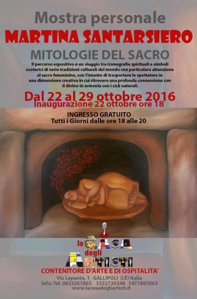 Mitologie del Sacro Mostra Personale di Martina Santarsiero