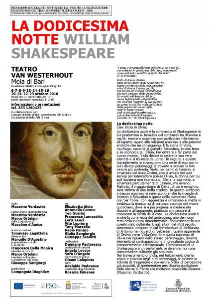 LA DODICESIMA NOTTE di W. Shakespeare