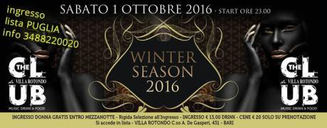 Sab 1 ottobre - Inaugurazione VILLA ROTONDO - ingresso Lista Puglia