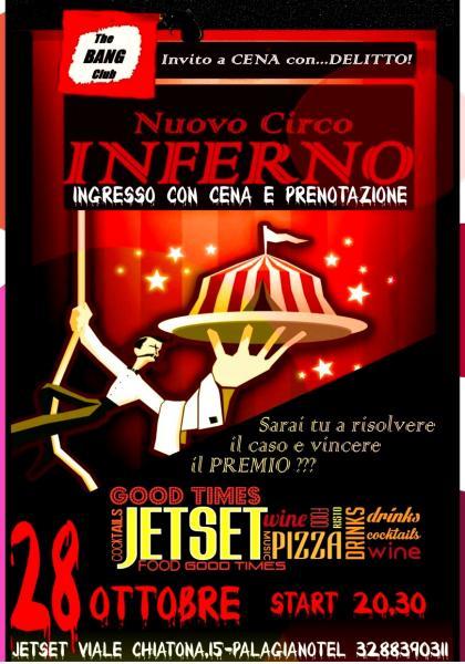 """cena con delitto """"The Bang Club"""" Jetset"""