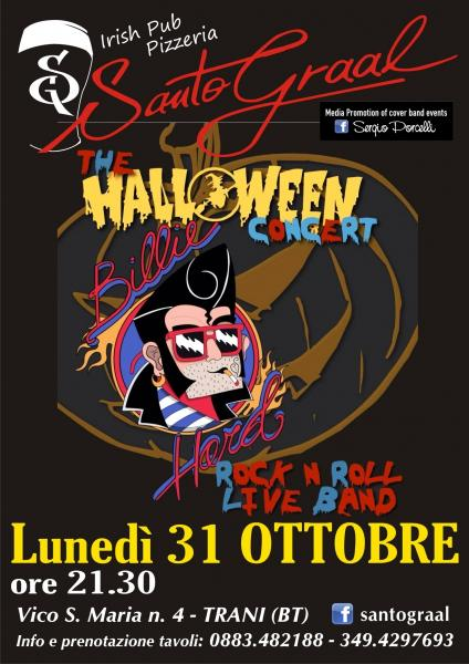 The Halloween Concert - Billie Hard at Santo Graal Trani
