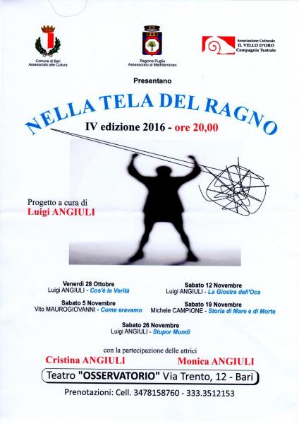 """""""NELLA TELA DEL RAGNO"""" a cura di Luigi Angiuli"""