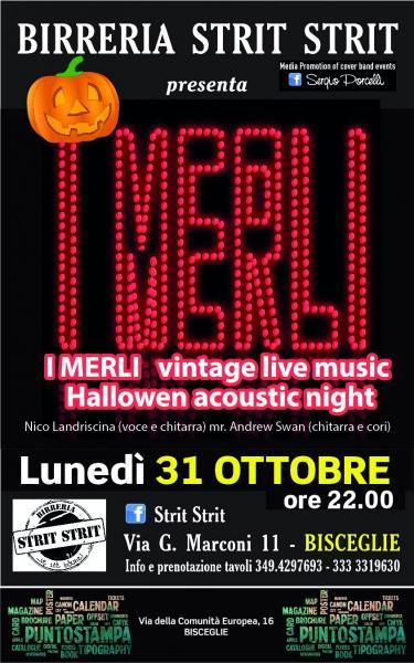 I MERLI ' vintage live music - Halloween acoustic night
