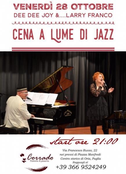 Cena a Lume di Jazz con Dee Dee Joy & Larry Franco