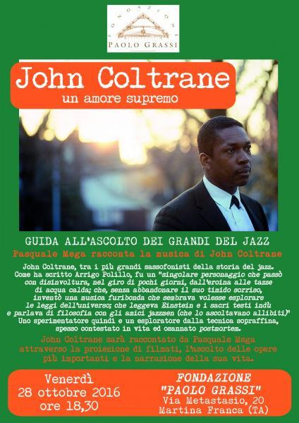 Pasquale Mega racconta John Coltrane