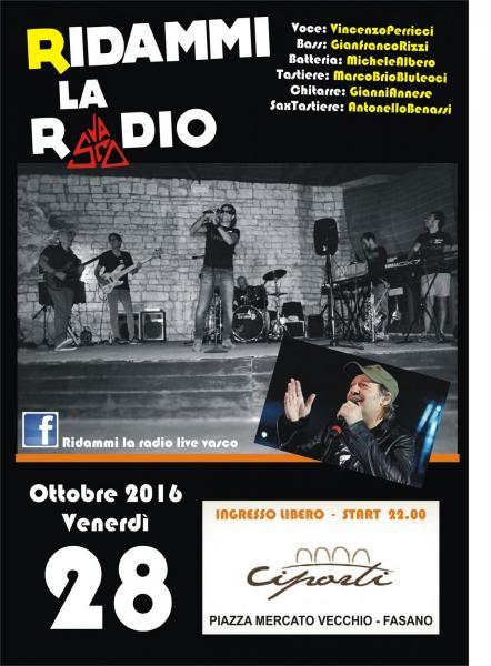 Ridammi la Radio live Vasco