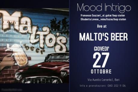 Mood Intrigo live at Malto's Beer