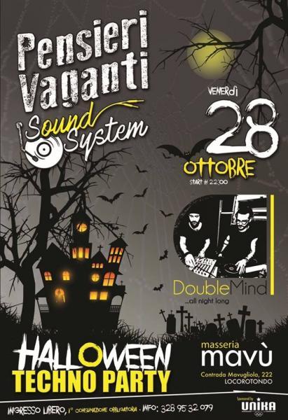 Pensieri Vaganti Sound System - Halloween Party con il dj set di DoubleMind