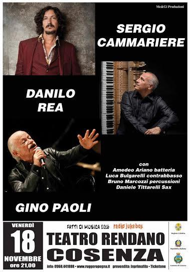 Super concerto di Sergio Cammariere, Danilo Rea e Gino Paoli