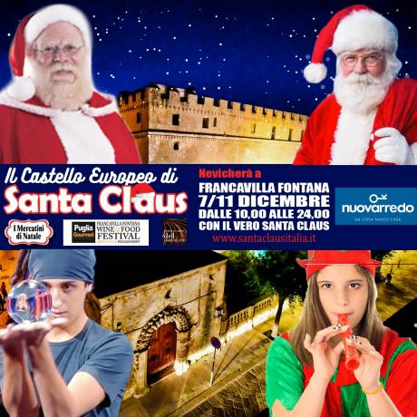 Nevicherà al Castello di Santa Claus a Francavilla Fontana dal 7 all'11 dicembre