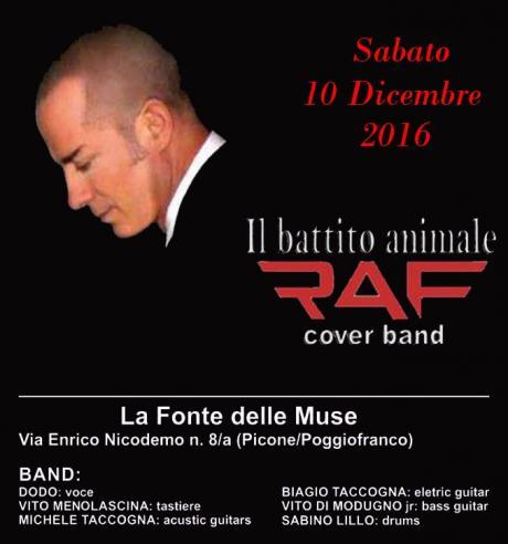 """""""Il battito Animale"""" Cover Band di RAF Sabato 10 Dicembre alla FONTE DELLE MUSE"""