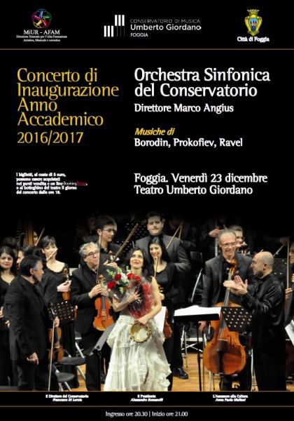 Concerto Sinfonico di Inaugurazione dell'Anno Academico 2016/2017