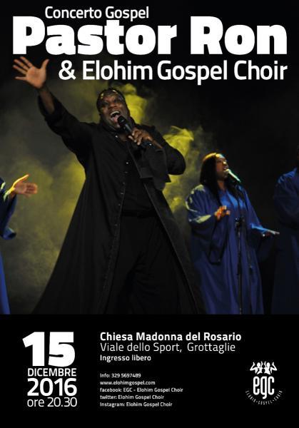 Pastor Ron Ixaac Hubbard & Elohim Gospel Choir live concert Tour 2016