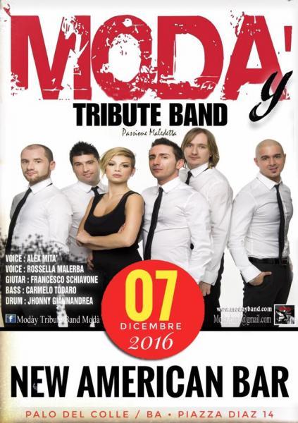 Modày Tributo Modà in concerto //New American Bar 07/12/2016