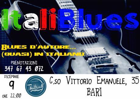 """""""Italiblues"""" Blues d'autore (quasi) in italiano"""