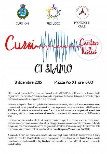 Primo Evento 2016/2017 del Cursi 4x4: Raccolta Fondi per il Centro Italia