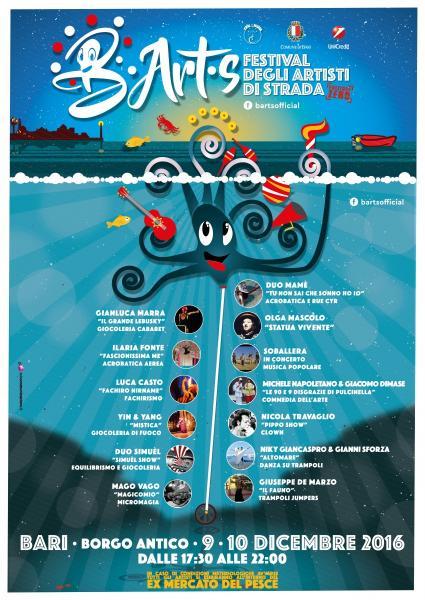 B.Art.S, il primo festival degli artisti di strada della città di Bari