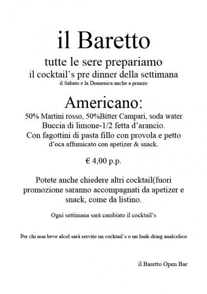 Cocktails Pre-Dinner