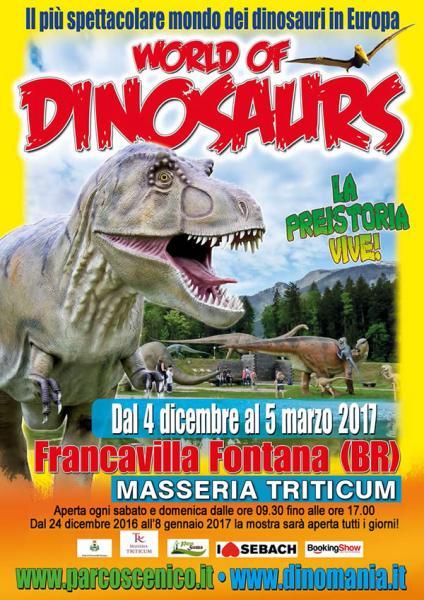 World of Dinosaurs - Dal 4 dicembre 2016 al 5 marzo 2017