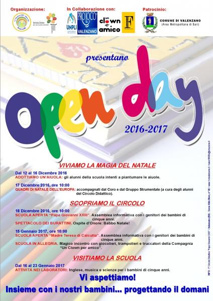 OPEN DAY 2016-2017