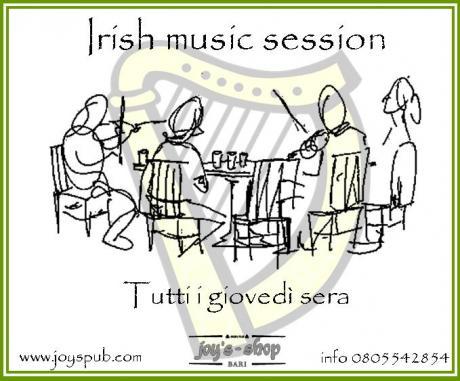Musica di Irlanda al Joy's Pub
