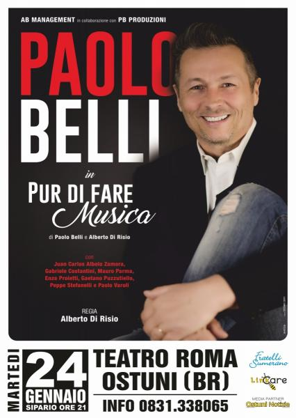 Paolo Belli & Big Band in Pur di fare musica live tour