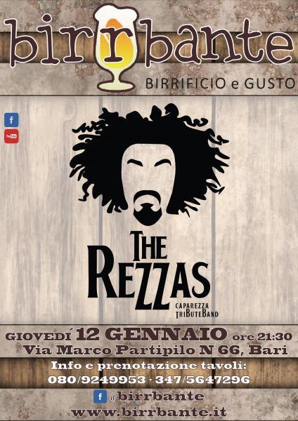 """The Rezzas"" - Caparezza Tribute Band - giovedì 12 gennaio 2017"