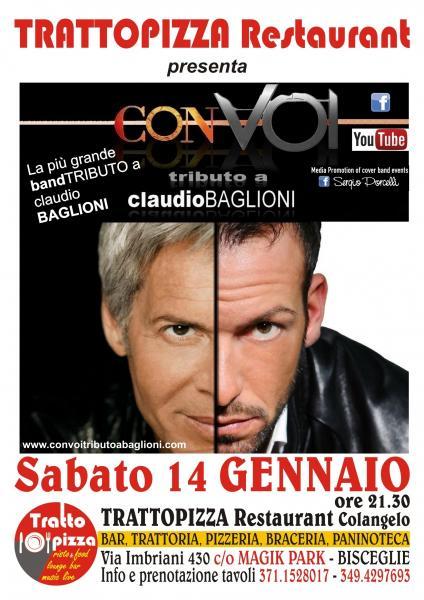CON VOI tributo a  Claudio Baglioni - cena spettacolo