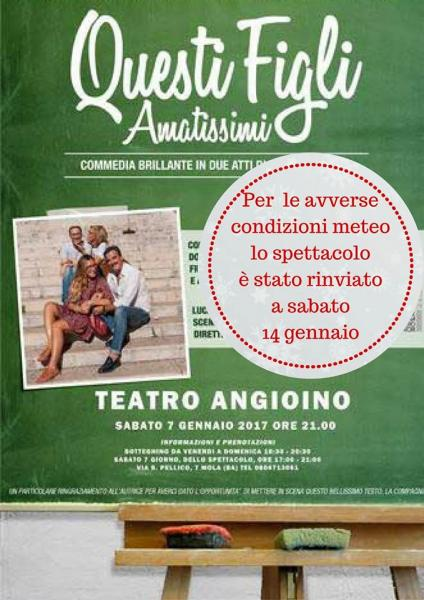 """""""Questi Figli Amatissimi"""", commedia brillante di Roberta Skerl - Compagnia La Cricca"""