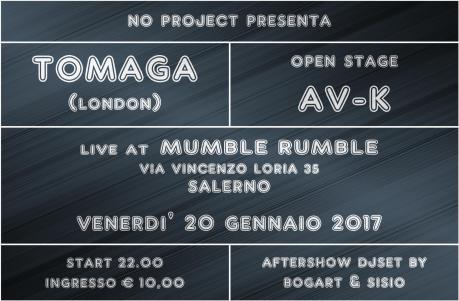 Tomaga w/ AV-K in concerto al Mumble Rumble di Salerno