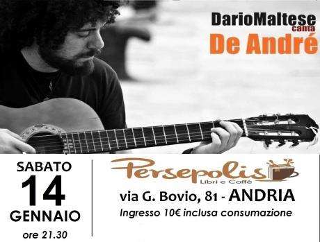 Dario Maltese canta De André