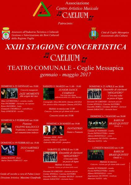 XXIII Stagione Concertistica Caelium