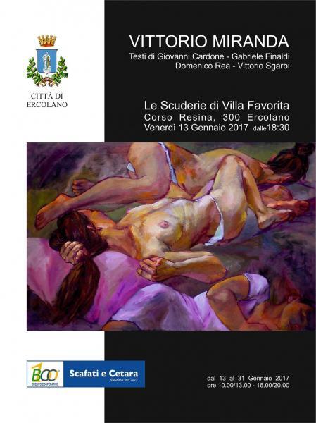 Vittorio Miranda in Mostra Alle Scuderie di Villa Favorita