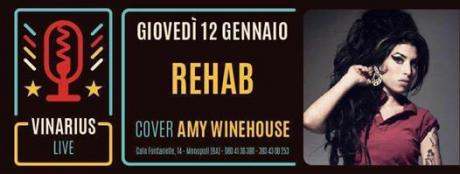 Giovedi 12 la tribute band di Amy Winehouse al Vinarius