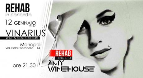 REHAB tribute to Amy Winehouse in concerto