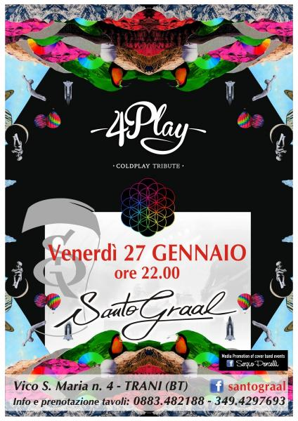 4Play Coldplay Tribute Band at Santo Graal