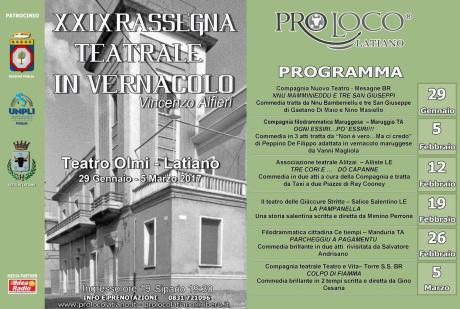 XXIX Rassegna teatrale in vernacolo V. Alfieri