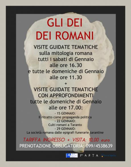 """Mitologia romana al MArTA - """"Dei dei Romani"""""""