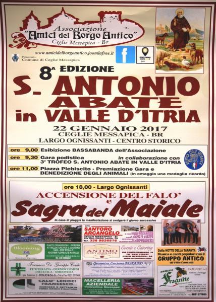 8^ Edizione di S. Antonio Abate in Valle d'Itria e Sagra del Maiale