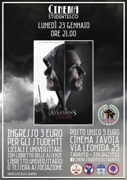 Assassin's Creed in rassegna al Cinema Savoia