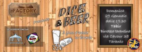 """""""DICE & BEER"""" - il gioco d'autore in birreria."""