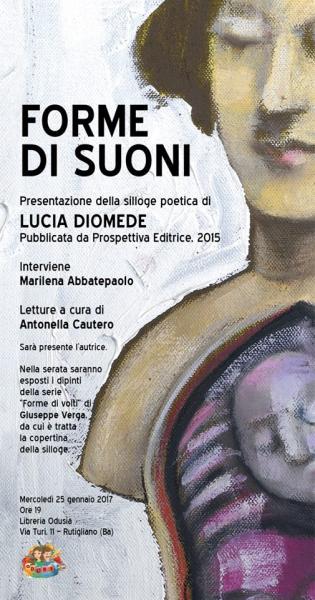 """Presentazione libro """"Forme di Suoni"""" di Lucia Diomede"""
