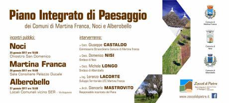 """Piano Integrato di Paesaggio """"Zoccoli di Pietra"""" (Martina Franca, Noci, Alberobello)"""