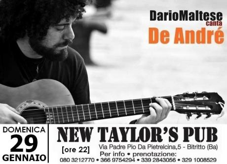 Dario Maltese canta Fabrizio De André