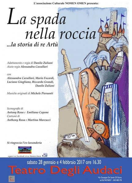 """""""La spada nella roccia"""": un viaggio avventuroso al Teatro degli Audaci"""