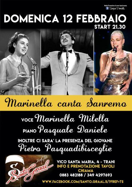 Marinella canta Sanremo al Santo Graal di Trani