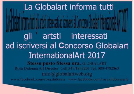 Bando X CONCORSO INTERNATIONAL GLOBALART 2017  Stesso posto Stessa ora