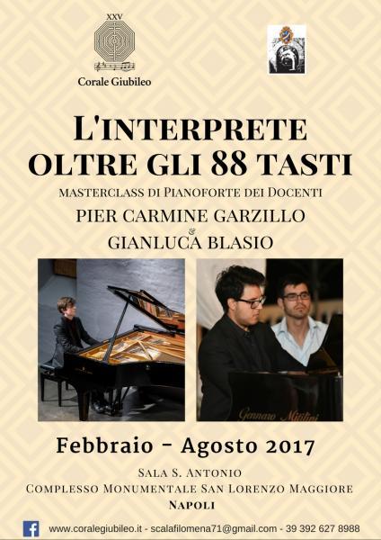 L'interprete oltre gli 88 tasti - Masterclass di Pianoforte di Pier Carmine Garzillo e Gianluca Blasio